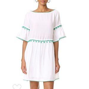 CLUB MONACO Aoiffe Dress White Green S
